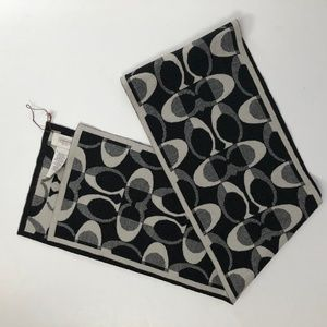 Coach Black and Gray scarf